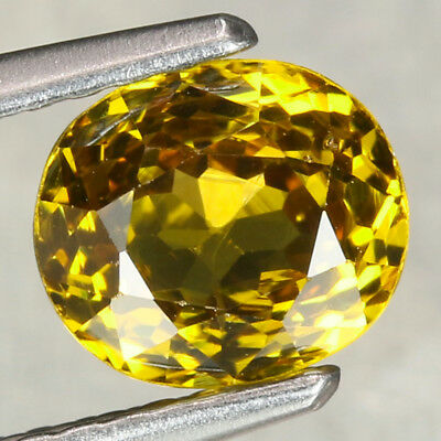1.34CT. 6.5x5.5mm Natural Mali Garnet Grossular Oval Yellow / S0828