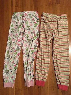 Girls Gymboree Lot of 2 pajamas sleepwear Pants Size:8 GUC