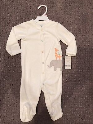 NEW CARTER'S Unisex Baby Boy & Girl Clothes 6-9 month Soft Pajama Sleeper