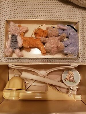 USED Disney Classic Winnie the Pooh Baby Crib Musical Mobile Retired NIB