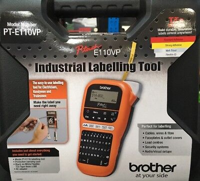 Brother PT-E110VP P Touch Industrial Labelling Tool Brand New