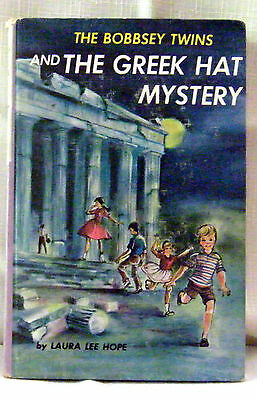 Bobbsey Twins 57: Greek Hat Mystery—Pictorial Cover—Incomplete Tri-Fold Ad—Htf