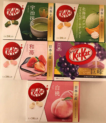 RARE Japanese KitKat Flavours - Grape, Melon, PEACH, Matcha Kit Kat Boxes kats