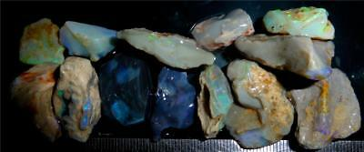 200 Cts #409 Opal Rough And Rough Rubs From Lightning Ridge Australia