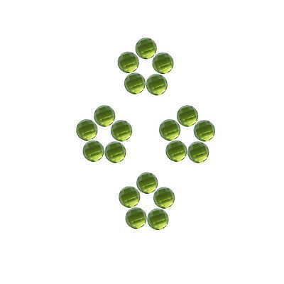 Natural Peridot 5x5 mm to 7x7 mm Round Shape Faceted Cabochon Loose Gemstones