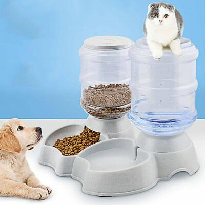 3.5L Large Automatic Feeder Pet Dog Cat Puppy Water Drinker Dispenser Food Bowl
