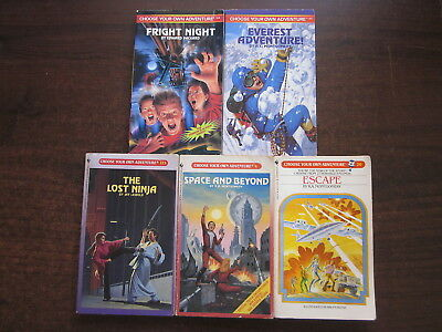 5 x CHOOSE YOUR OWN ADVENTURE Vintage Books #4, 20,113, 145, 164  Paperbacks