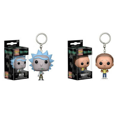 Rick and Morty Vinyl Action Figure Exclusive Pop Pocket Keychain Interesting Toy