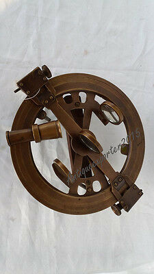 Vintage Brass Sextant Marine  Replica Nautical Sextant