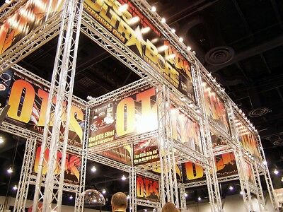 Trade Show Booth, Trade show display, Aluminum Space Truss 20x20'-20x50' adapts!