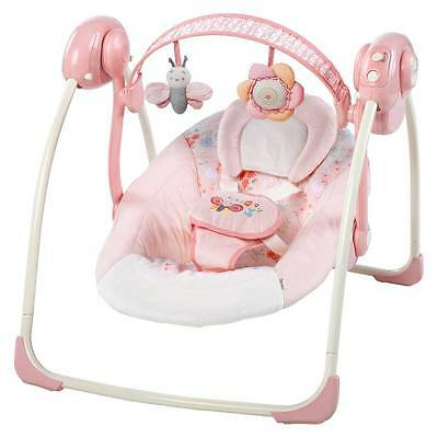 Ingenuity Felicity Floral Portable Swing w Adjustable Speed & Soothing Melodies