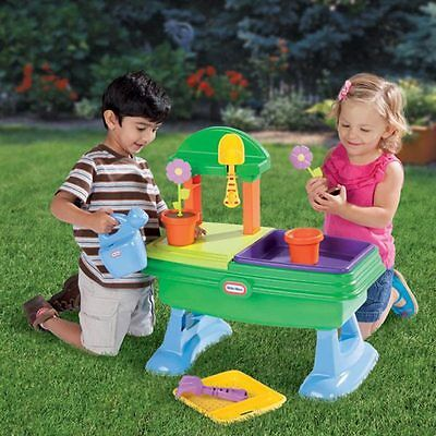 Little Tikes Garden Table play set teaches kids how to plant and water flowers!