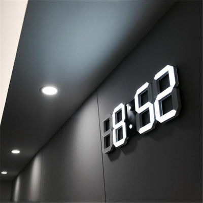 Modern Digital LED Table Desk Night Wall Clock Alarm Watch 24 12 Hour Display Y
