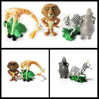 """Madagscar 3"""" to 4"""" Action Figures Play Set Toy Doll Kids Collection Set of 4"""