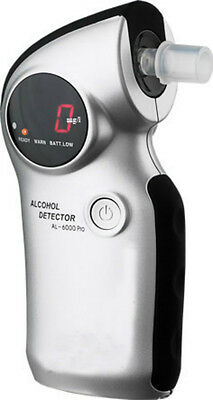 AL6000 Digital Alcohol Breathalyser + Mouthpieces and Breath Tester Sensors