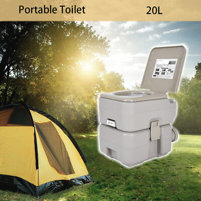 20L Portable Travel Camping Toilet Flush Mobile Pump WC Outdoor Indoor UK STOCK