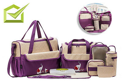 Baby Diaper Bag Set For Girls Boys Mom Dad Changing Pads 8 Piece Infant Bags Pad