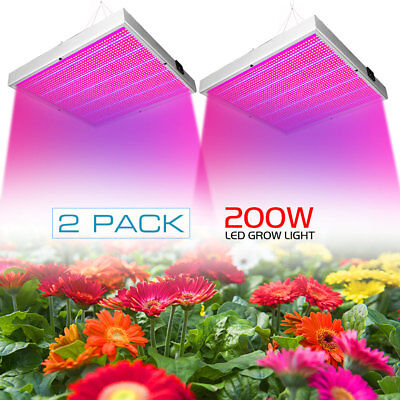 2pcs 200W LED Grow Light Wachsen Licht VollSpektrum Indoor Veg Wuchs Blüte Pflan