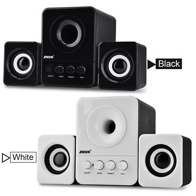 USB2.1 Mini Multimedia Speaker HIFI Box Computer Stereo audio Subwoofer for PC H