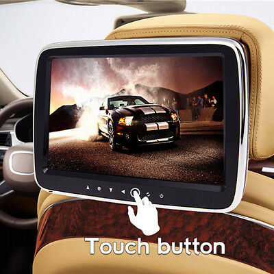 9 Inch HD Digital LCD Screen Car Headrest Monitor Mount DVD Media MP5 Mp3 Player