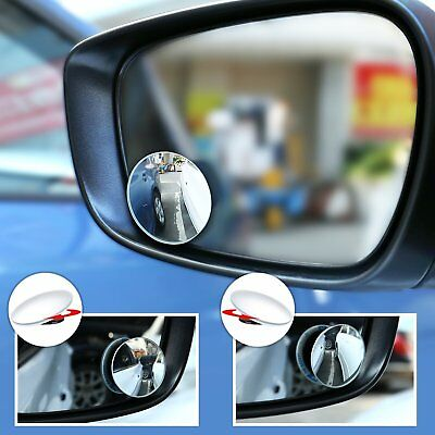 Blind Spot Mirror (2pcs)Rimless HD Glass Wide Angle 360° Convex Mirror Rear View