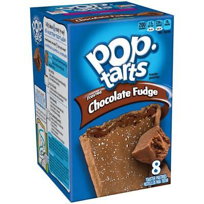 900682 416g BOX OF KELLOGG'S POP TARTS FROSTED CHOCOLATE FUDGE FLAVOUR! AMERICAN