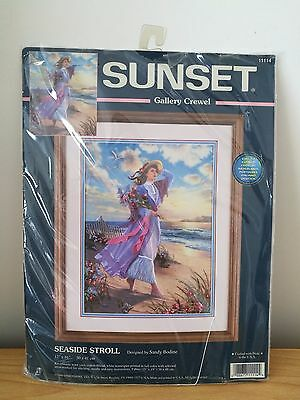 Sunset Gallery Crewel Kit - Seaside Stroll