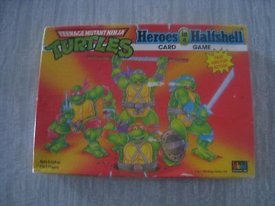 TMNT Heroes in a half shell card game 1990
