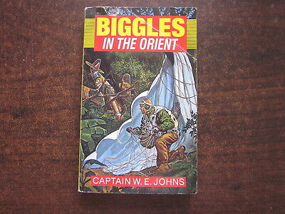 BIGGLES IN THE ORIENT by Capt W.E. Johns Vintage 1992 Red Fox Paperback  Book
