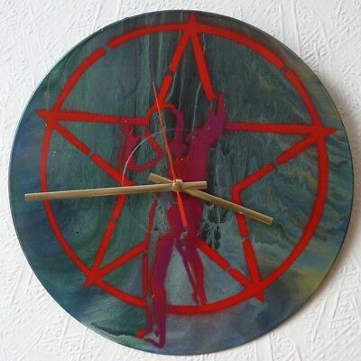 RUSH inspired wall clock..Hawkwind.,led zeppelin.