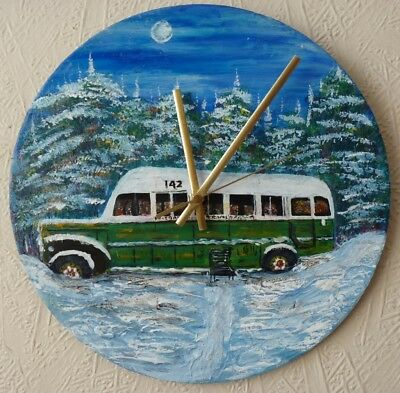 into the wild  inspired record wall CLOCK,,.hand painted