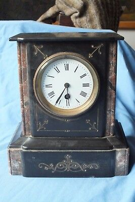 Antique French Slate Mantel Clock
