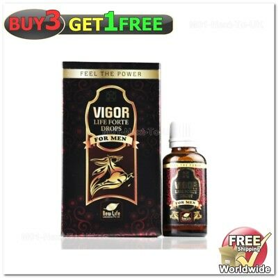 New Life Vigor Life Forte Drops For Sexual wellness in Men{BUY3 GET1 FREE}