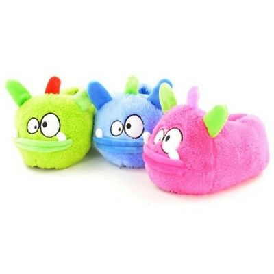 Kids Children's Boys Girls Monster Animal Novelty Neon Slippers Funny 3D Comedy