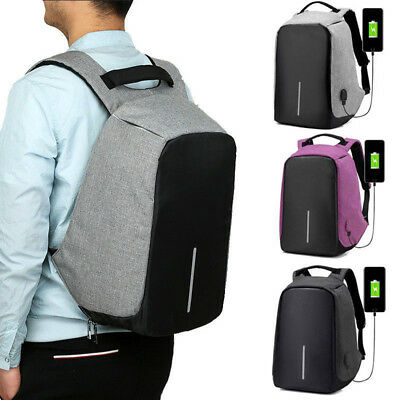 Unisex Anti-theft Laptop Backpack Waterproof Travel Bag With USB Charging Port