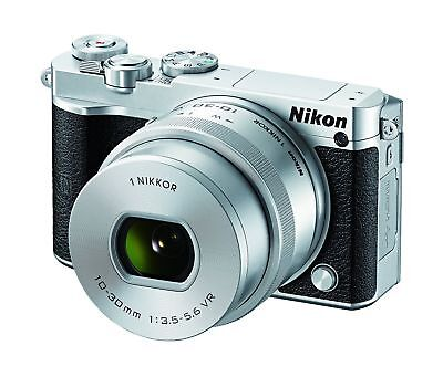 Nikon 1 J5 Mirrorless Digital camera w/10-30mm VR Lens kit - silver
