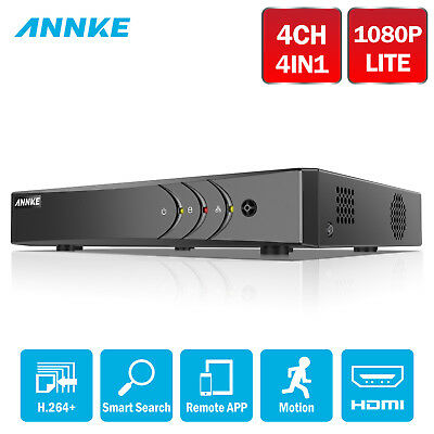 ANNKE 4IN1 4CH 1080p lite CCTV Security DVR H.264+ Email Alert Time Shcheduled