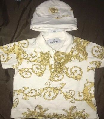 Young Versace Baby T Shirt And Hat Bundle 6 months