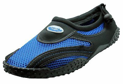 Mens Waterproof Wave Water Shoes Royal/Black, Size 12
