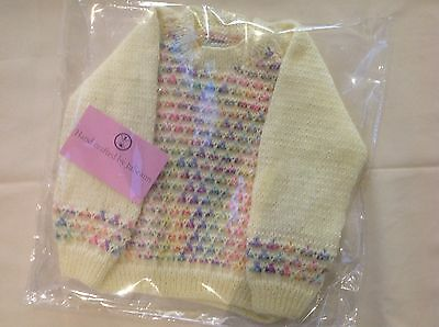 Babys Jumper Hand Knitted