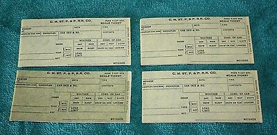 Chicago Milwaukee St. Paul and Pacific Railroad Company Scale Ticket lot of 4