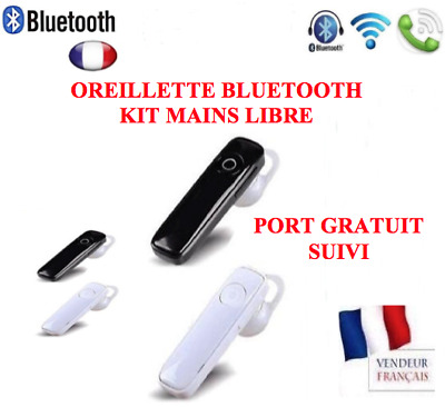 Oreillette Bluetooth écouteur kit main libre casque iPhone samsung Universel