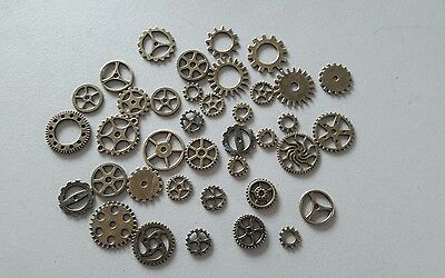 Mixed selection of cogs metal Steampunk 38 pieces
