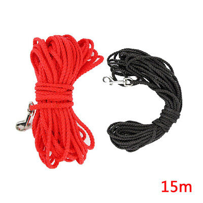 10M & 15M Dog Cat Lead Leash Training Long Line Recall Walking Obedience Hunting