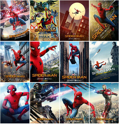 12 Spider-Man:Homecoming Movie 2017 Mirror Surface Postcard Promo Card Poster D4