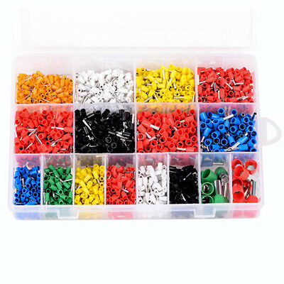 2120pcs Insulated Terminal Bootlace Cooper Ferrules CRIMP WIRE SPADE Connector