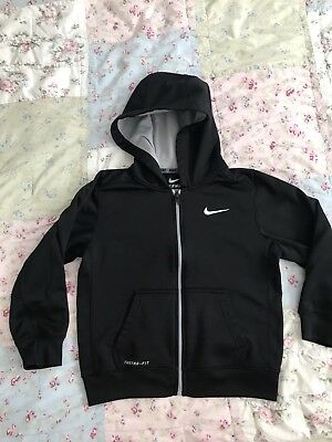 NIKE Therma Fit Black Zip Up Hoodie Boys Youth Size 7