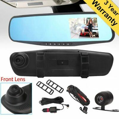 Dual Lens Cam Vehicle Front Rear Car DVR Video Recorder Dash Cam HD 1080P new