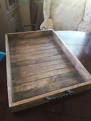 large wooden outhentic indian tray with handles