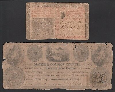 L149 USA New Jersey colonial & 19th century paper money items
